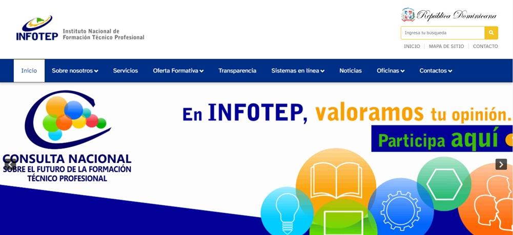pagina de infotep y plataforma